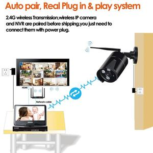 """Image 5 - 6CH audio Wireless Surveillance System Network 10.1"""" LCD Monitor NVR Recorder Kit1080P HD Video Inputs 2.0MP Security Camera"""