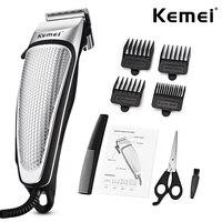 Kemei máquina de cortar cabelo elétrica dos homens clippers aparador cabelo profissional doméstico baixo ruído barba ferramentas cuidados pessoais corte cabelo 45d|Aparadores de pelo| |  -