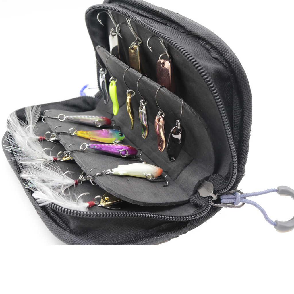 الصيد ملعقة السحر حقيبة معالجة حالة سبينر صندوق مقاوم للماء نعلق على سترة ظهره الكارب الصيد يطير أدوات الصيد 15x10x4 سنتيمتر