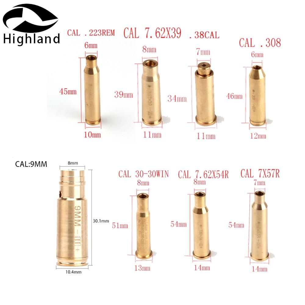 655nm 635nm CCAL .9mm .45.30.222.223REM 7.62X39 30-30WIN 7X57R .308 7.62X54 .38 Cartridge Red Laser Bore Sighter Boresighter
