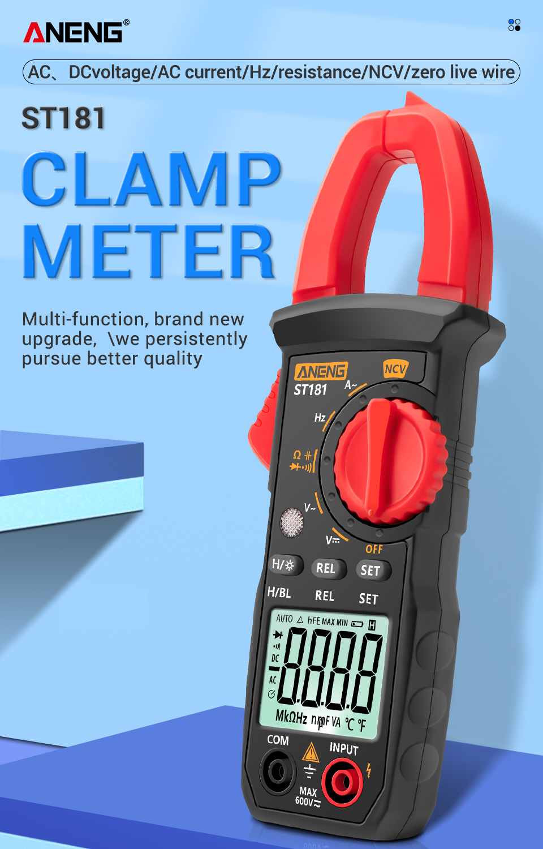 alicate amperimetro minipa true rms medidor de
