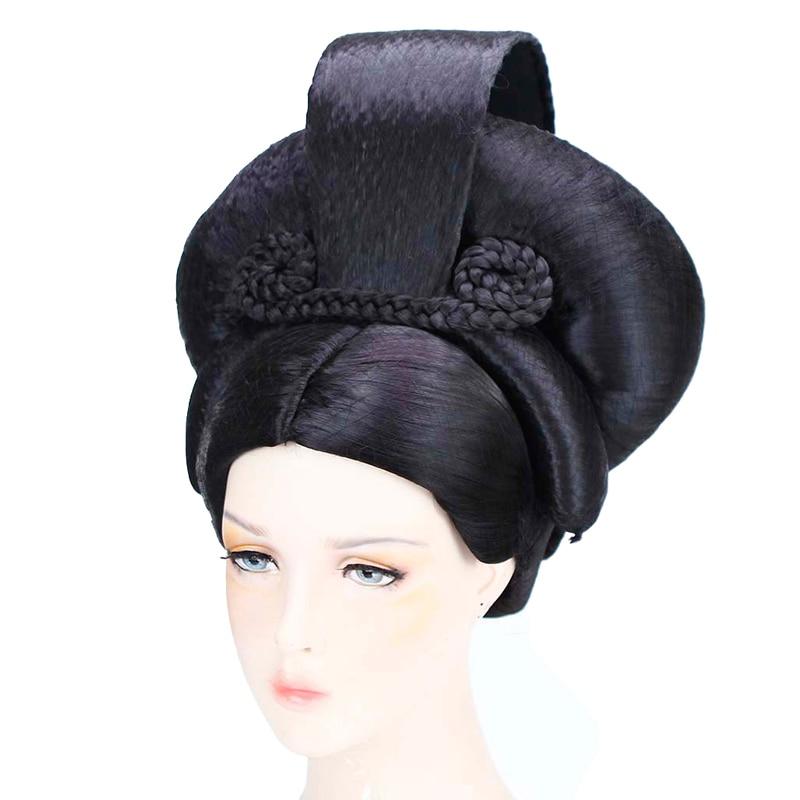 Disfraz de zetian de tang dynasty wu, pelo de Reina real, productos para el cabello de emperatriz, fotografía histórica, ropa para cabeza de Carnaval