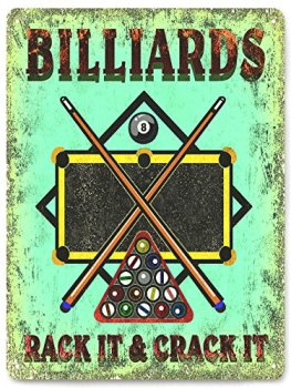 Billiards Metal Sign