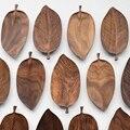 Musowood деревянный поднос в виде листа для чайного набора чашка фруктовая змея десерт украшение дома для отеля офис черный орех тарелка с лист...