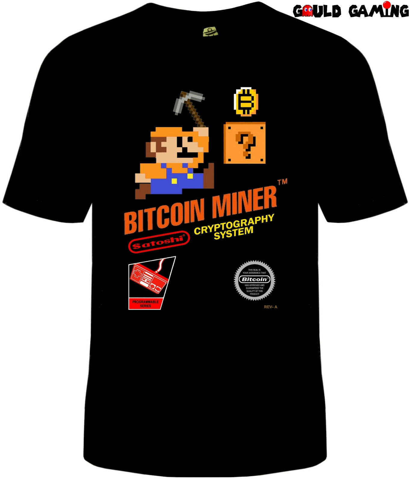 Bitcoin Miner Super Mario Crypto T Shirt Unisex Cotton Adult Sizes Nintendo New