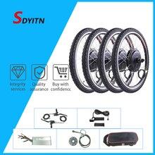 Семейный задний вращающийся Мотор колеса 1000 Вт, комплект для электровелосипеда 48 В, задний Мотор Ступицы 26 дюймов, контроллер BLDC для велосип...