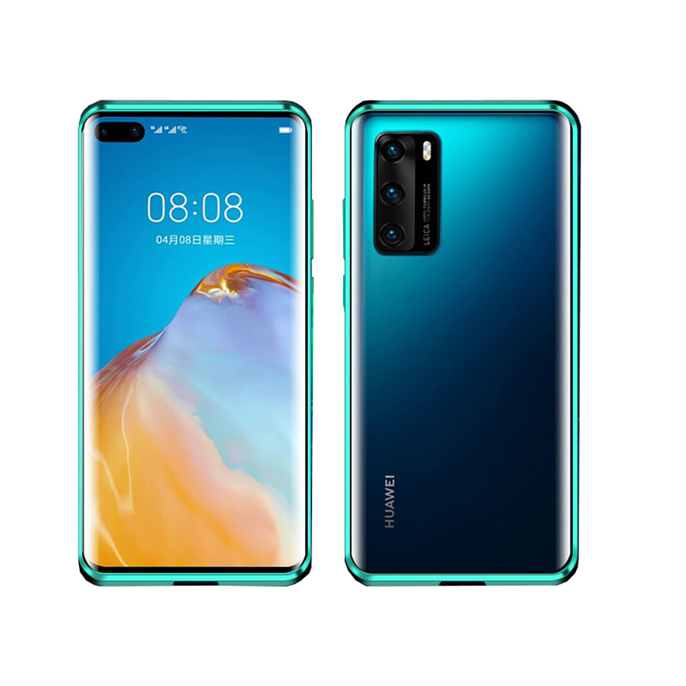 <font><b>360</b></font> Full Coverage Tempered Glass <font><b>case</b></font> Curved Glass <font><b>Case</b></font> Magnetic Adsorption <font><b>case</b></font> for HuaWei <font><b>P20</b></font> P30 P40 PRO Lite image