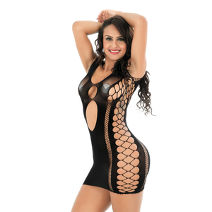 Image 2 - Sexy Hot Erotic Dress Women Lingerie for Sex Halter Perspective Lace lingerie Porno Babydoll Costumes