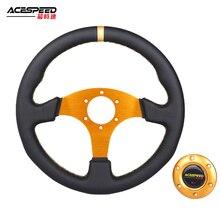 Game-Karting Simulated Steering-Wheel Fit-Racing Universal 330mm Golden Car Flat-Frame