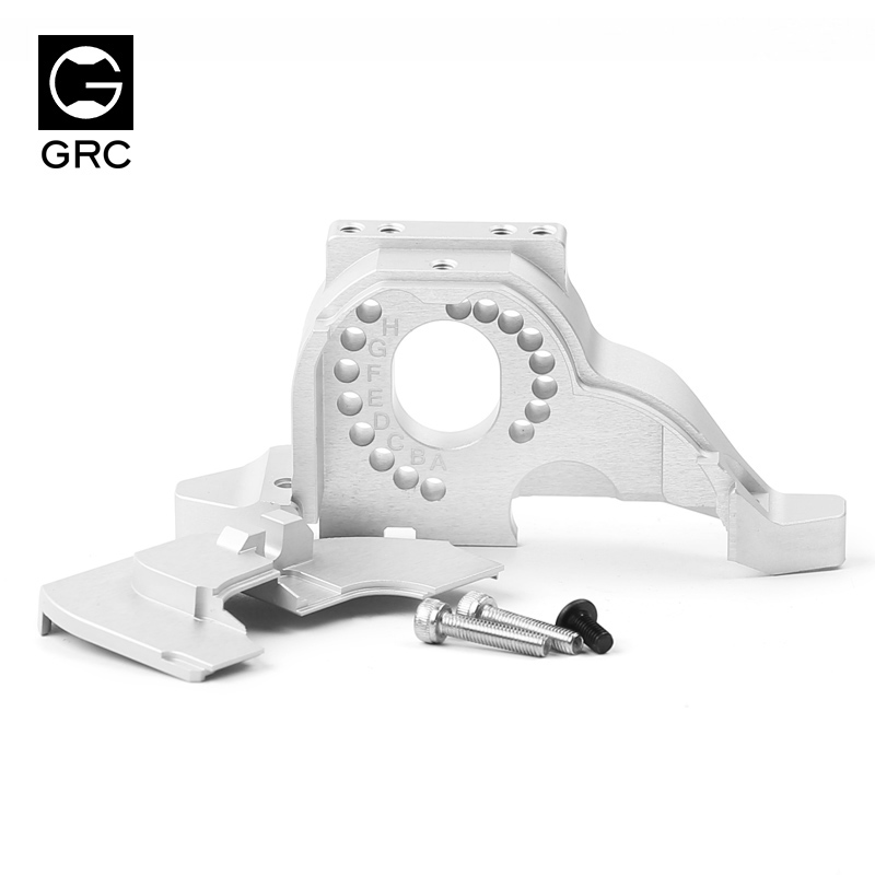Grc integrated motor base metal gear cover for 1 / 10 rc tracked
