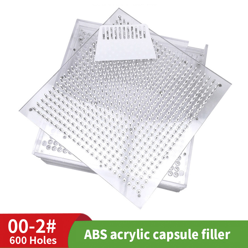 600 Hole 00 # 0 # 1 # 2 ABS Capsule Filling Plate Capsule Filling Machine Version Capsule Filler With Powder Plate