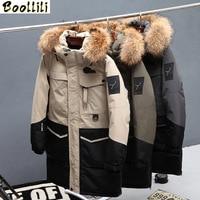 2020 New Arrival Men Down Jacket Winter Men Parka Hoodies Real Fur Long Men Coat Casual High Street Thick Warm Male Outerwear