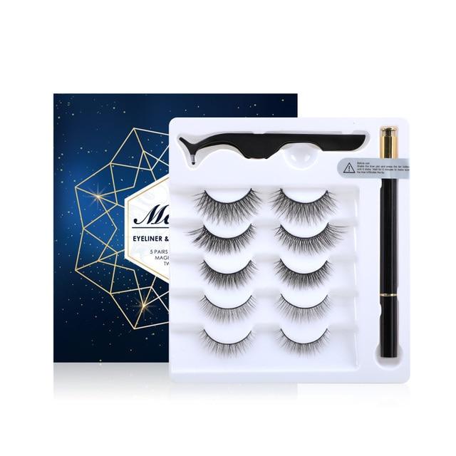 Magnetic Eyelashes 5 Magnets 3D Mink False Eyelashes Magnetic Lashes Eyelashes USA Warehouse Free Shipping Christmas Gift 4