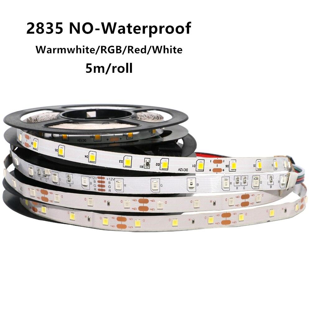 5m RGB LED Strip Light 5050 5630 5730 3528 2835 SMD 60Leds/M Led Stripe String Flexible Ribbon Led Tape Non-waterproof Lampada