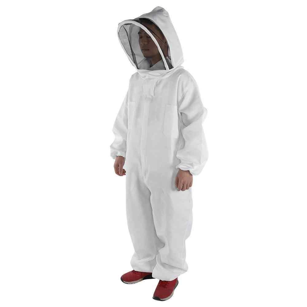 Cotone Pieno Del Corpo di Apicoltura Abbigliamento Velo Cappello Cappuccio Anti-Bee Cappotto Speciale Indumenti Protettivi Apicoltura Ape Vestito Attrezzature