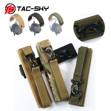 TAC-SKY MOLLE headbandtactical headset advanced combined headset sleeve MOLLE headband tactical headset hunting accessories advanced modular headset cover molle headband for general tactical earmuffs microphone hunting shooting headphone cover