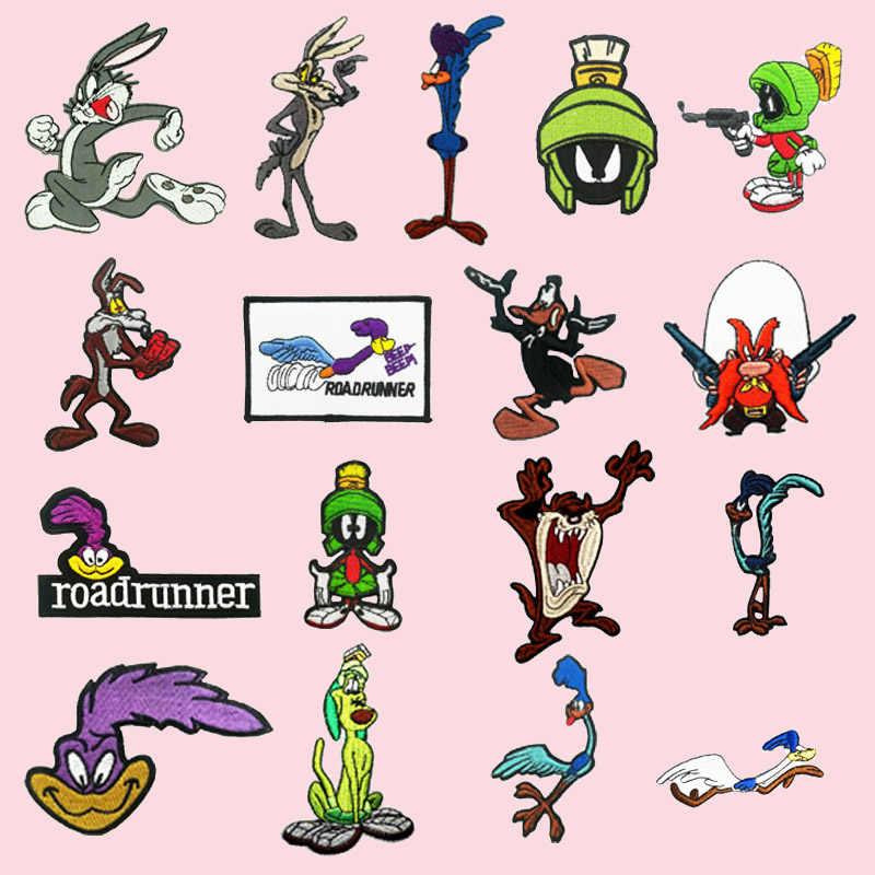 Parche bordado adorable con personajes de dibujos animados de conejo de Tasmanian BUGS