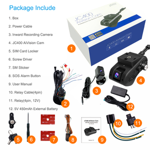 Image 5 - Jimi JC400 4G Dash Cam With Live Streaming GPS Tracking Remote Monitoring WiFi Multiple Alerts Via APP PC Car Camera For Vehicle
