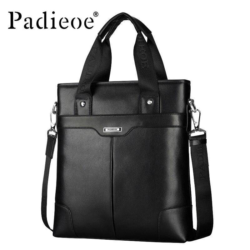 Padieoe Cow Leather Handbag Men Small Crossbody Bag Genuine Leather Black Brown Mens Messager Bag Men