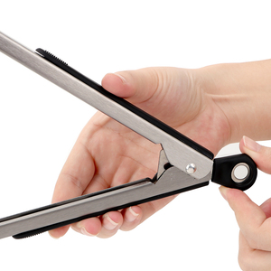 Image 5 - Pinzas de acero inoxidable para barbacoa, utensilios de cocina multifunción para barbacoa, ensalada, pinzas para comida, pinzas para barbacoa, accesorios para barbacoa