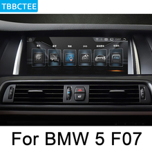 где купить For BMW 5 Series F07 GT 2010-2012 CIC Car Android multimedia player screen touch display GPS Navigation stereo Audio head unit дешево