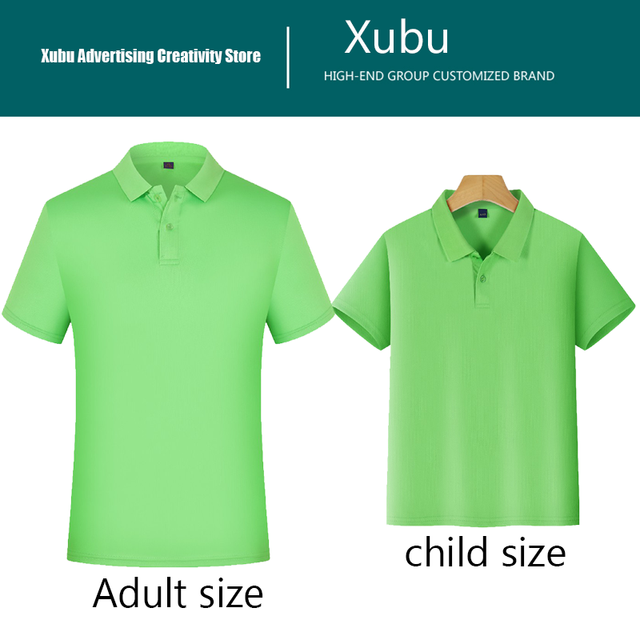 High-end customization POLO shirt custom work POLO short sleeve team high quality quick-drying shirt Adult and children sizes 4