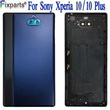 Housing-Case Sony Xperia Battery-Cover Replacement-Parts Glass 10-Plus New for 10-plus/Back-housing/Glass/Rear
