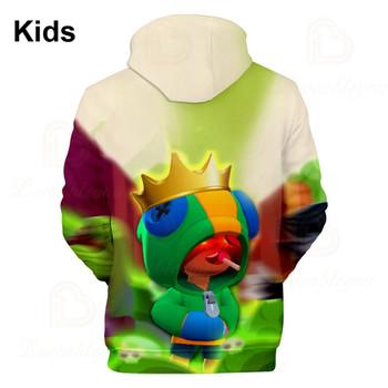 Sandy Darrly i gwiazda odzież dziecięca strzelanka 3d Swearshirt chłopcy dziewczęta odzież dziecięca bluza z kapturem GENE Leon Teen topy tanie i dobre opinie CN (pochodzenie) POLIESTER Spring Autumn Sweatshirts As picture 3D Printed Hoodies Support Drop Shipper Kids Boys Girls Youth