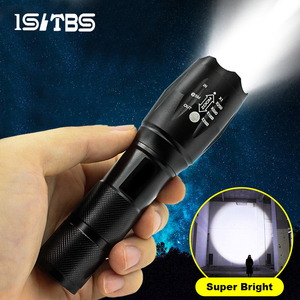 LED Flashlight Ultra Bright Torch T6/L2 Outdoors Waterproof Zoomable Rechargeable 18650 Battery Flashlights Hiking Camping Light
