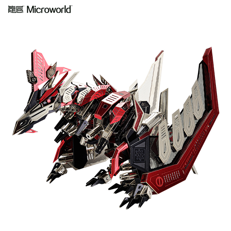 Microworld 3D Metal Puzzle Dinosaur Pterosaur Model kits DIY Laser Cut Assemble Jigsaw Toy GIFT For Children