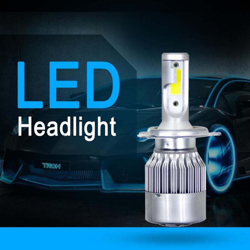H4 LED Headlight Bulbs 72W 8000LM COB Kit Fog Light Foglight Lamps High Power 6000K White Conversion Car Accessories