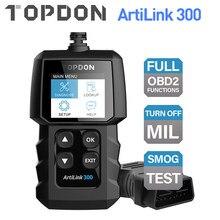 TOPDON AL300 كامل OBD2 الماسح الضوئي سيارة OBDII أداة تشخيص السيارات رمز القارئ خطأ رمز قراءة المحرك تحقق الضباب الدخاني اختبار إيقاف IML