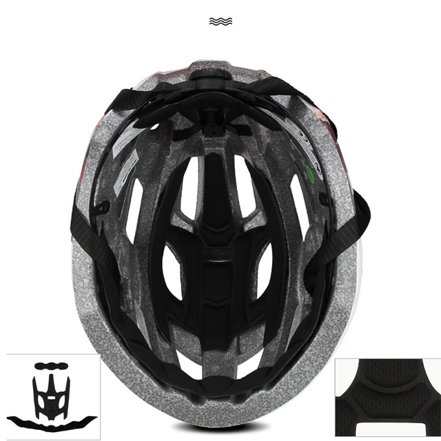 Novo capacete de bicicleta led luz recarregável intergrally-moldado ciclismo capacete mtb mountain road capacete da bicicleta esporte seguro chapéu para o homem 6
