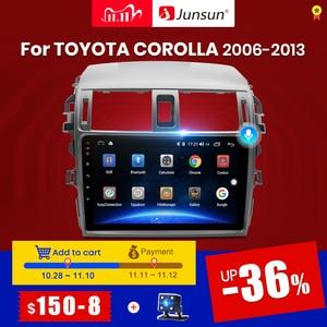 Junsun V1pro 4G+64G CarPlay Android 10 DSP For Toyota Corolla E140 E150 2007-2013 Car Radio Multimedia Player GPS RDS 2 din dvd