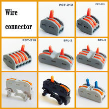 Draad Connector Mini Snelle Power Connector Universele Push Connector Plug In Wire Terminal Blok 4 Pin Plug In Kabel Connector(China)