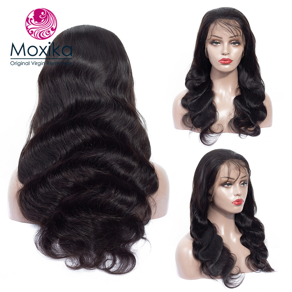 Moxika 13 4 Lace Front Human Hair Wigs With Baby Hair Remy Brazilian Body Wave Lace