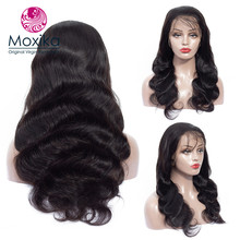 Moxika Lace Frontal Human Hair Wigs With Baby Non Remy Brazilian Body Wave Pre Plucked For Black Women