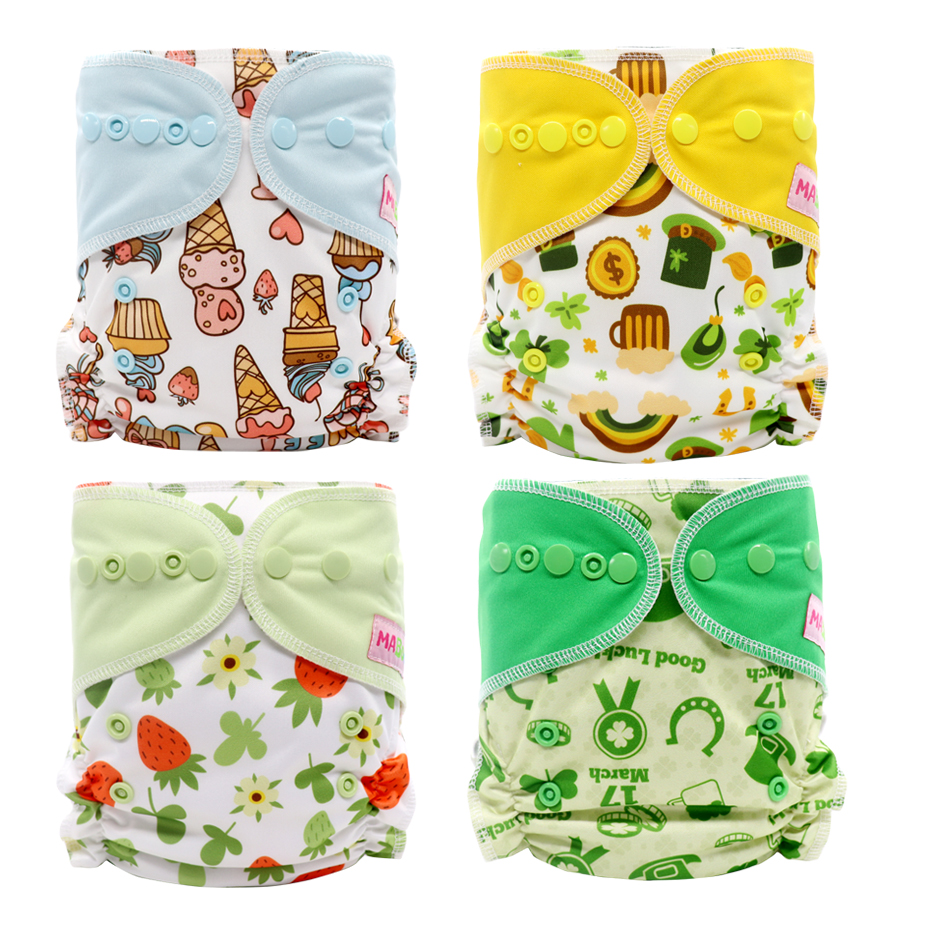 MABOJ Cloth Diapers Baby Washable Cloth Diaper Adjustable Nappy Reusable Pocket Cloth Diapers Available 8-38lbs Baby Cloth Cover