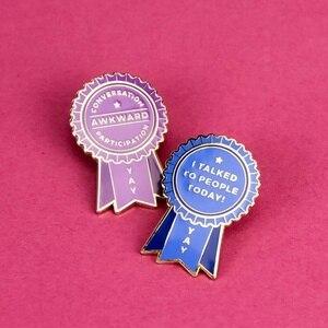 2Pcs-Creative Pop-Enamel Pin Lapel Badges Brooch Funny Fashion Jewelry
