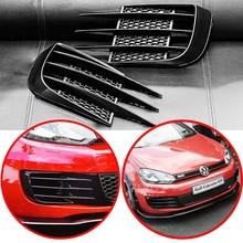 For VW Volkswagen Golf 6 MK6 VI GTI R R20 ABS Fog Lamps Shade Car Front Fog Light Hoods Eyebrow Eye Wind Knife Cover Trim