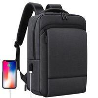 كبير الرجال حقائب الظهر حقيبة لابتوب المرأة الأعمال مكتب العمل حقيبة سفر USB شحن حقائب مدرسية