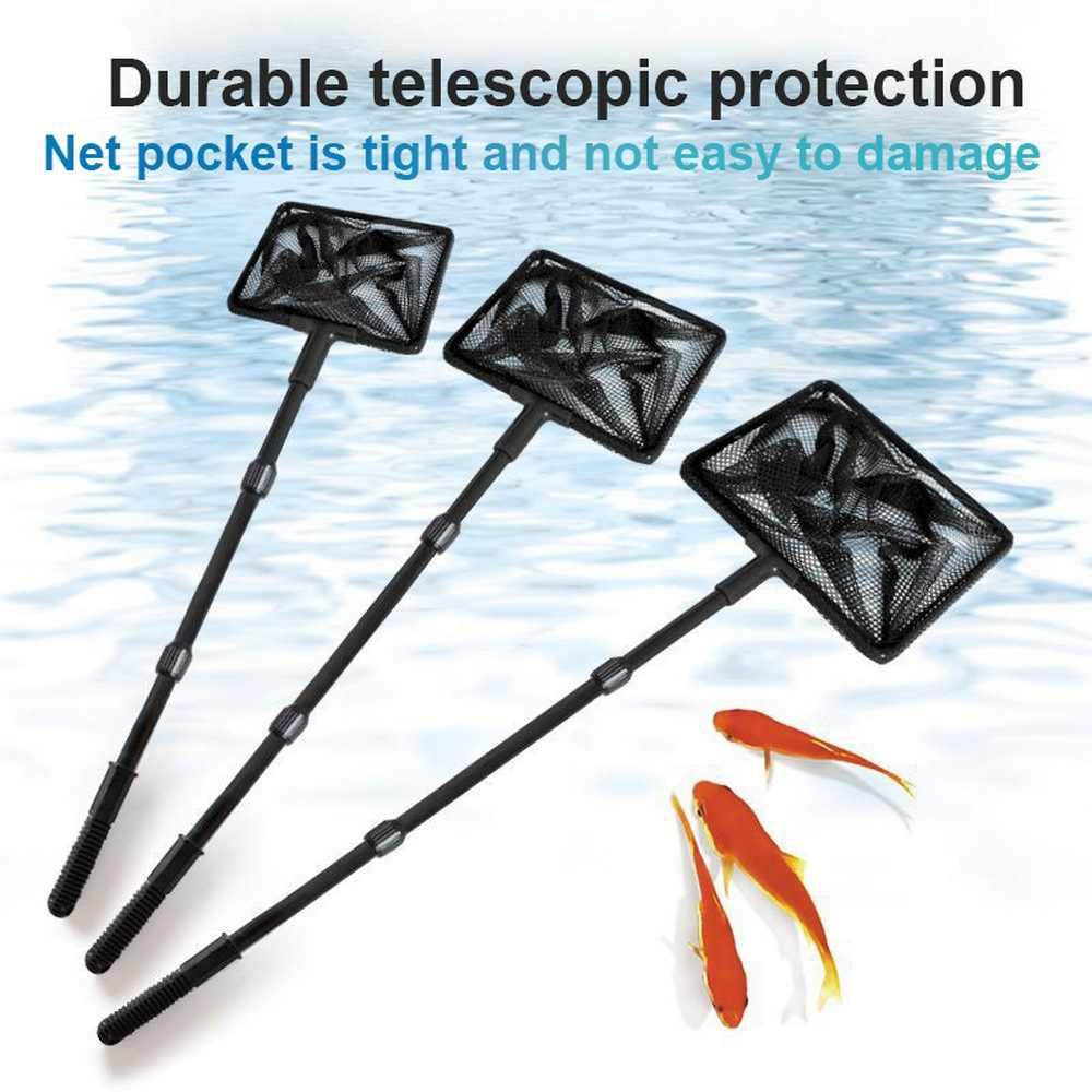 1 pc Fishing Net Plastic Pole Extendable Landing Net for Fish Tank Ponds Lakes L