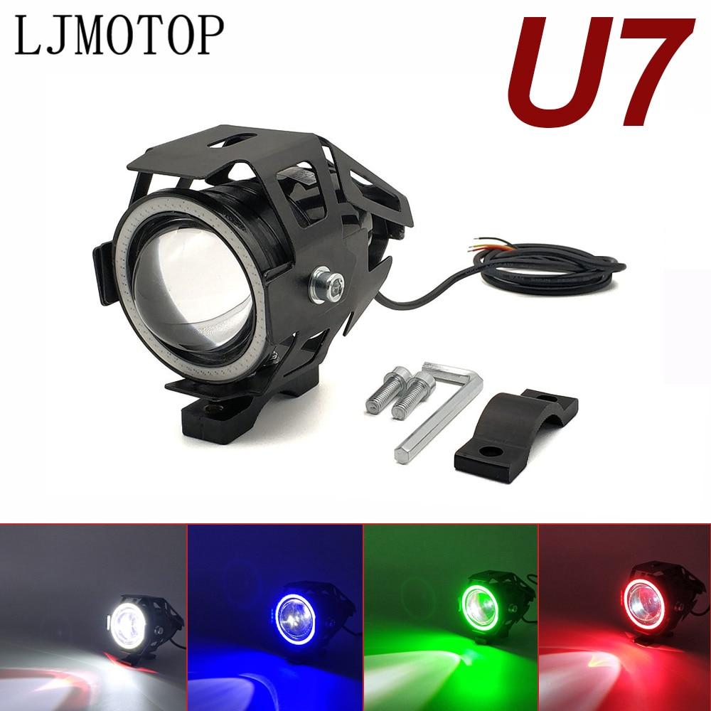 For Honda CRF1000L AFRICA TWIN CB400SF CB190R GROM MSX125 125W Motorcycle Headlight 3000LM Low Beam Flash U7 LED Spotlight|  - title=