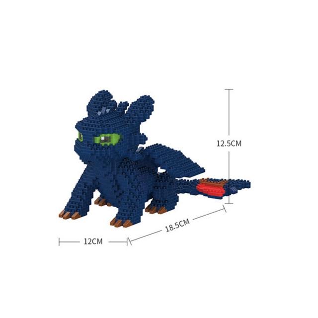 Dragon 3 legoinglys toothless Night Fury Light Fury Dragon Building Blocks Brick toys for children B995