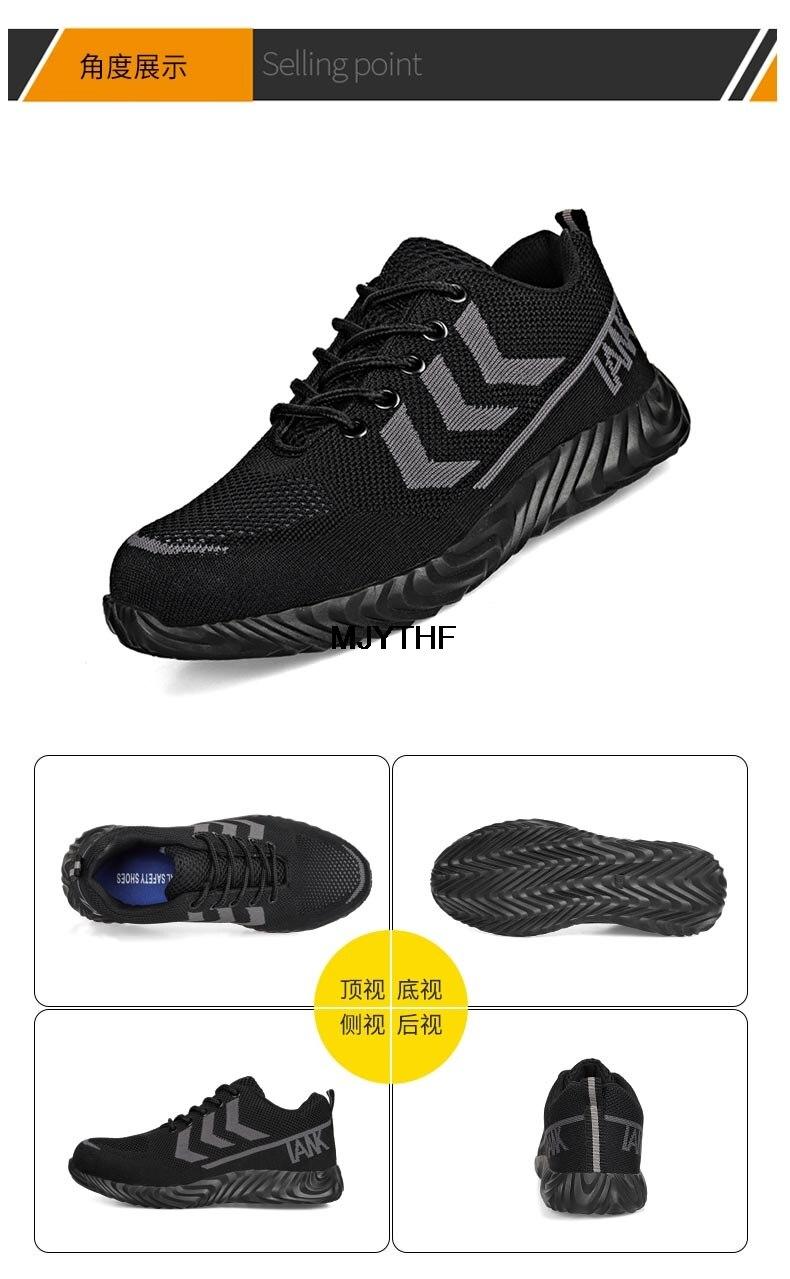 respirável tênis de trabalho conforto trabalho sapatos