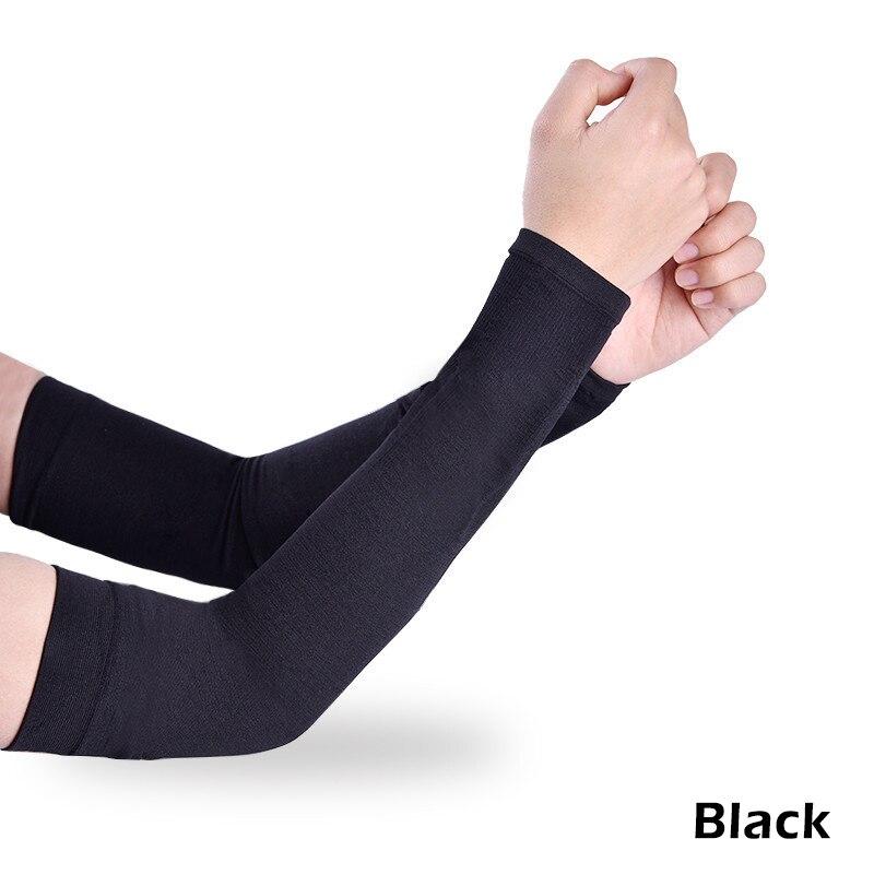 1 пара черный белый открытый солнцезащитный крем рука охлаждающий рукав дышащие рукава с манжетами Велоспорт Туризм Бег УФ защитный