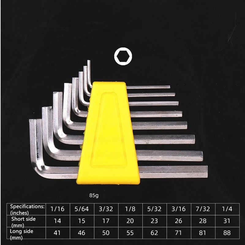 """Schlüssel Metric Größe Kurzen Arm Hand 1/16 """"- 1/4"""" Zoll & 1,5 mm-6mm Werkzeug Set Chrom-vanadium stahl Spanner Allen Hex Schlüssel Kurze Arm"""