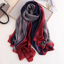 summer Scarves Women classic Shawl Ladies Elegant Wrap silk