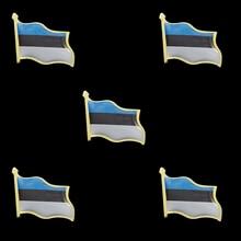 5PCS Estonia Estonian Country Flag Lapel Clothes Hat Cap Tie Pin Badge Brooch Accessories 5pcs estonia estonian country flag lapel clothes hat cap tie pin badge brooch accessories