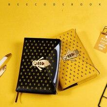 A5 honeybee La Password Notebook Libro con Serratura Creativo di Scuola Forniture Per Ufficio di Cancelleria Personale Copertura del Diario Ufficiale planner